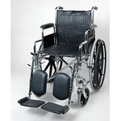 Кресло-коляска со съемными подлокотниками и с подножками с надувными колесами