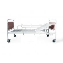 Кровать медицинская функциональная с регулируемой по углу наклона головной секцией КМФ на колесах
